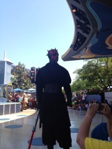 Darth Taunts the Crowds