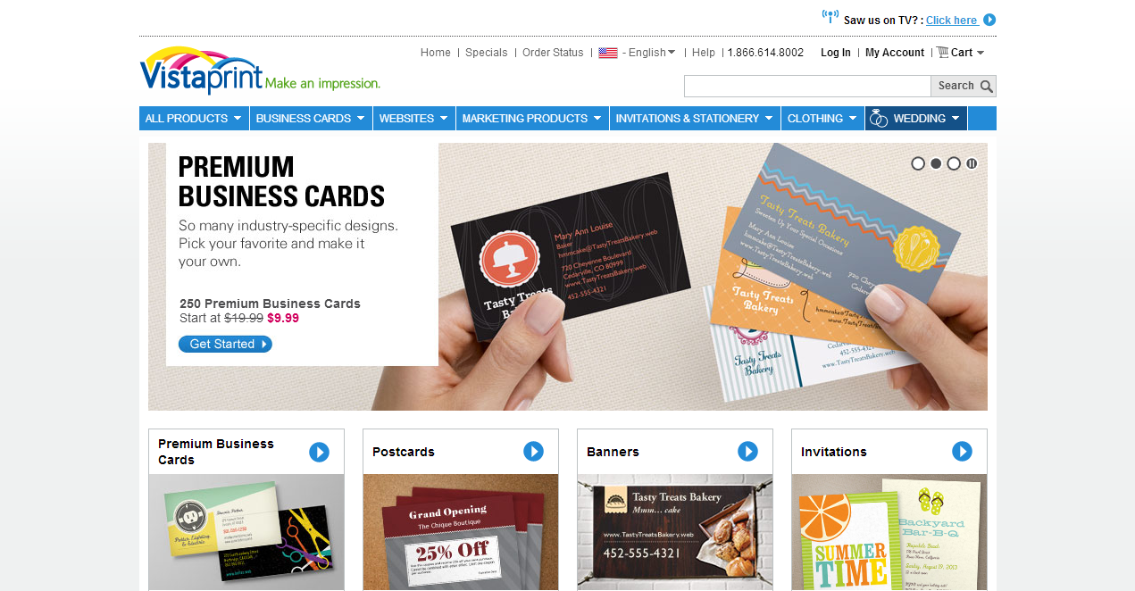 Vistaprint Business Cards Websites Postcards T Shirts And