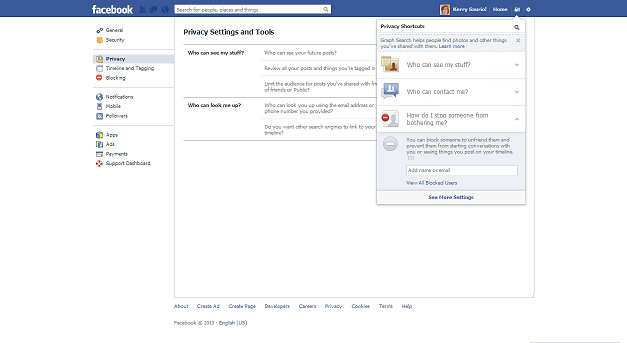 how to find someone on facebook privacy