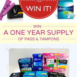 Sharing: Win a ONE YEAR SUPPLY OF PADS & TAMPONS from The Period Blog & Always!