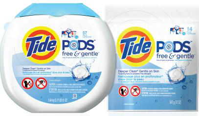 have you tried tide pods free gentle crunchy carpets