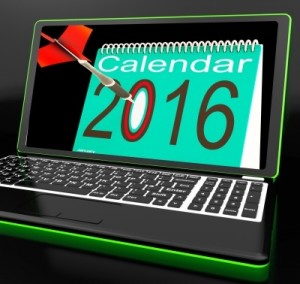 Calendar 2016 On Laptop Showing Future Websites by Stuart Miles