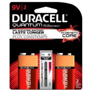 Duracell Quantum 9 Volt Battery Pack Shot