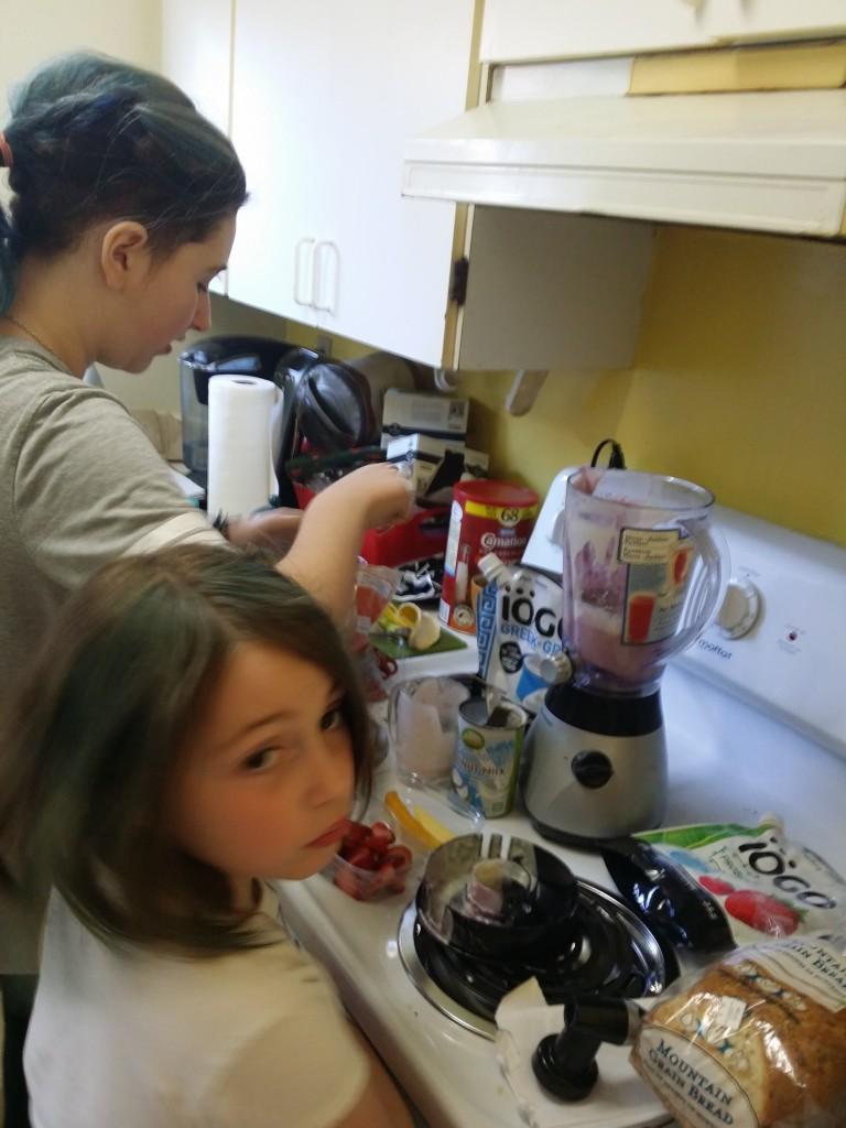 The girls get creative with iOGO Yogurt