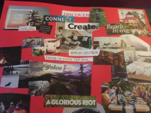 First Vision Board with Mom
